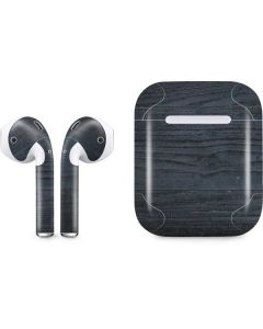 Charcoal Wood Apple AirPods Skin