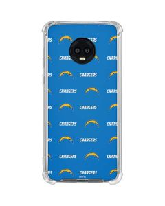 Los Angeles Chargers Blitz Series Moto G6 Clear Case