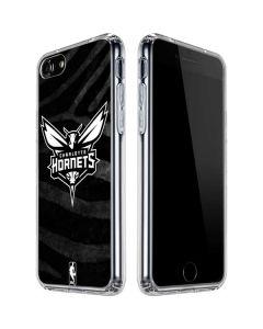 Charlotte Hornets Black Animal Print iPhone SE Clear Case
