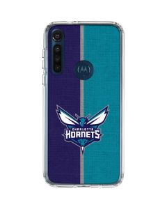 Charlotte Hornets Canvas Moto G8 Power Clear Case