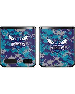 Charlotte Hornets Digi Camo Galaxy Z Flip Skin