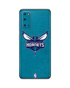 Charlotte Hornets Distressed-Aqua Galaxy S20 Skin