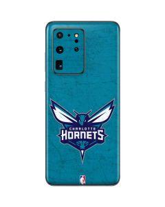 Charlotte Hornets Distressed-Aqua Galaxy S20 Ultra 5G Skin