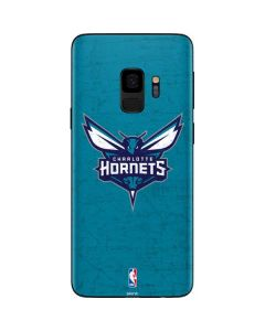 Charlotte Hornets Distressed-Aqua Galaxy S9 Skin