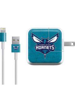 Charlotte Hornets Distressed-Aqua iPad Charger (10W USB) Skin