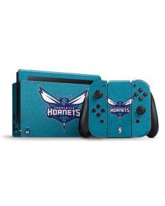 Charlotte Hornets Distressed-Aqua Nintendo Switch Bundle Skin