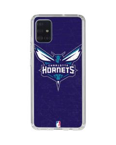 Charlotte Hornets Distressed-Purple Galaxy A51 Clear Case