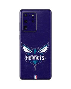 Charlotte Hornets Distressed-Purple Galaxy S20 Ultra 5G Skin