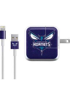 Charlotte Hornets Distressed-Purple iPad Charger (10W USB) Skin