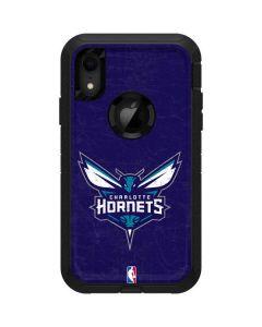 Charlotte Hornets Distressed-Purple Otterbox Defender iPhone Skin