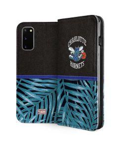 Charlotte Hornets Retro Palms Galaxy S20 Folio Case