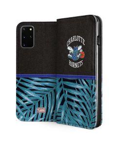 Charlotte Hornets Retro Palms Galaxy S20 Plus Folio Case