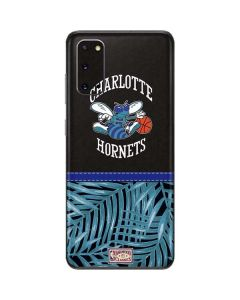 Charlotte Hornets Retro Palms Galaxy S20 Skin
