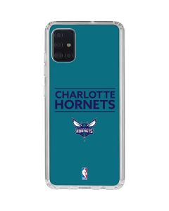 Charlotte Hornets Standard - Blue Galaxy A51 Clear Case