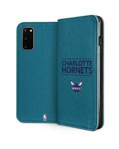 Charlotte Hornets Standard - Blue Galaxy S20 Folio Case