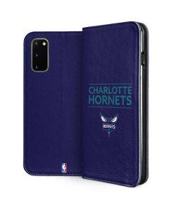 Charlotte Hornets Standard - Purple Galaxy S20 Folio Case