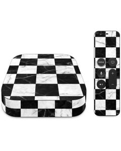 Checkered Marble Apple TV Skin