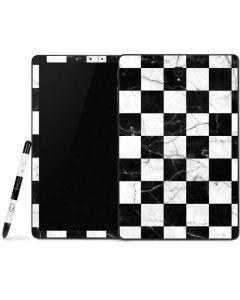 Checkered Marble Samsung Galaxy Tab Skin