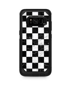 Checkered Marble Otterbox Commuter Galaxy Skin