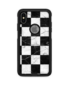Checkered Marble Otterbox Commuter iPhone Skin