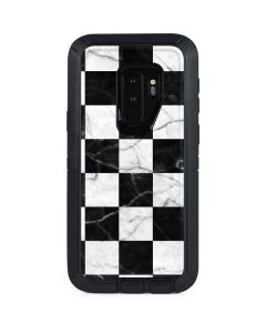 Checkered Marble Otterbox Defender Galaxy Skin