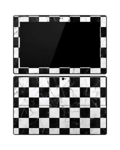 Checkered Marble Surface Pro Tablet Skin