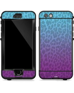 Cheetah Print Purple and Blue LifeProof Nuud iPhone Skin