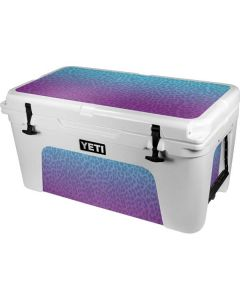 Cheetah Print Purple and Blue YETI Tundra 65 Hard Cooler Skin