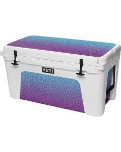 Cheetah Print Purple and Blue YETI Tundra 75 Hard Cooler Skin