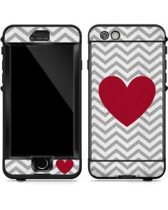 Chevron Heart LifeProof Nuud iPhone Skin