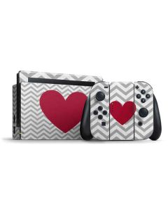 Chevron Heart Nintendo Switch Bundle Skin