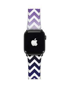 Chevron Purple Ombre Apple Watch Band 42-44mm