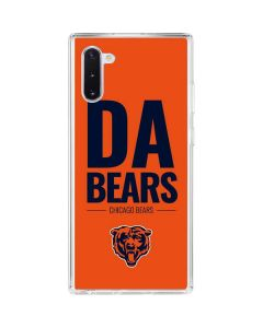 Chicago Bears Team Motto Galaxy Note 10 Clear Case