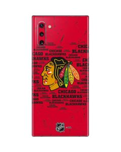 Chicago Blackhawks Blast Galaxy Note 10 Skin