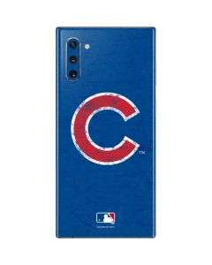 Chicago Cubs - Solid Distressed Galaxy Note 10 Skin