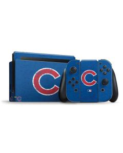 Chicago Cubs - Solid Distressed Nintendo Switch Bundle Skin