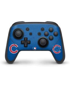 Chicago Cubs - Solid Distressed Nintendo Switch Pro Controller Skin