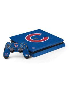Chicago Cubs - Solid Distressed PS4 Slim Bundle Skin