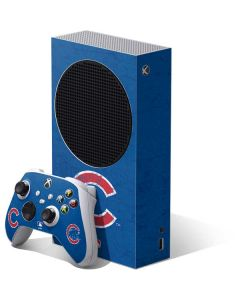 Chicago Cubs - Solid Distressed Xbox Series S Bundle Skin
