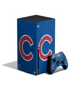 Chicago Cubs - Solid Distressed Xbox Series X Bundle Skin