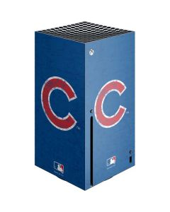 Chicago Cubs - Solid Distressed Xbox Series X Console Skin