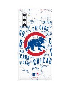 Chicago Cubs - White Cap Logo Blast Galaxy Note 10 Skin