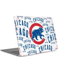 Chicago Cubs - White Cap Logo Blast Apple MacBook Air Skin