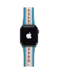Chicago Flag Dark Wood Apple Watch Case