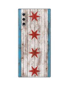 Chicago Flag Dark Wood Galaxy Note 10 Skin