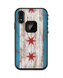 Chicago Flag Dark Wood LifeProof Fre iPhone Skin