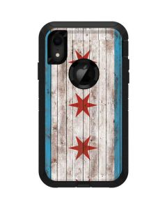Chicago Flag Dark Wood Otterbox Defender iPhone Skin