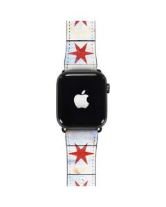 Chicago Flag Light Wood Apple Watch Band 42-44mm