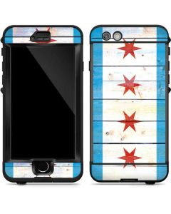 Chicago Flag Light Wood LifeProof Nuud iPhone Skin