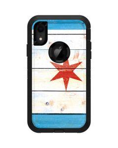 Chicago Flag Light Wood Otterbox Defender iPhone Skin